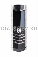 Vertu Signature S Design White Gold Full Pave Diamond Bezel Exclusive